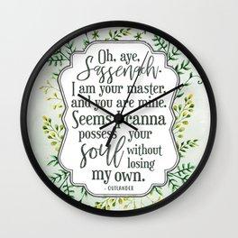 Oh, aye, Sassenach Wall Clock