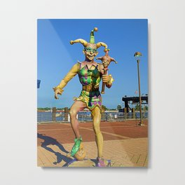 New Orleans Clown Metal Print