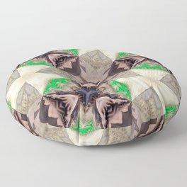 Mix of Mutated Patterns Var. 7 Floor Pillow