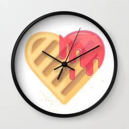 Tasty cookies in the shape of heart Wall Clock