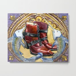 Nouveau Swordfish Metal Print