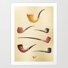 The Sherlock Holmes Pipes Art Print
