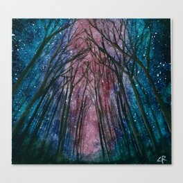 Starlit forest Canvas Print