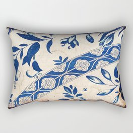 Blue Oriental Vintage Tile 04 Rectangular Pillow