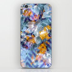Abstract flowers and plants with geometric iPhone & iPod Skin