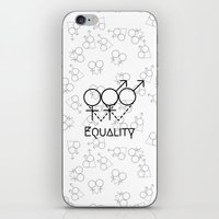 equality iPhone & iPod Skins featuring Marriage Equality by Purshue feat Sci Fi Dude