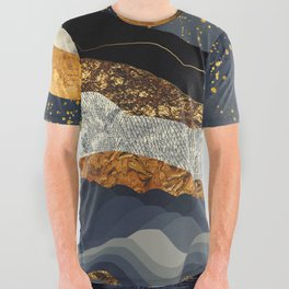 Metallic Mountains All Over Graphic Tee