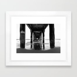Manhattan Beach Pier Framed Art Print