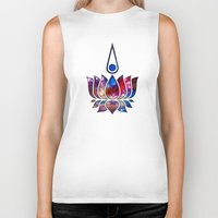 buddhism Biker Tanks featuring Lotus by Spooky Dooky
