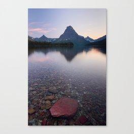 TWO MEDICINE LAKE SUNSET - GLACIER NATIONAL PARK MONTANA - LANDSCAPE NATURE PHOTOGRAPHY Canvas Print