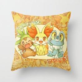 Frenniken Froakie Chespin Throw Pillow