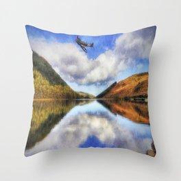 Spitfire Lake Flight Throw Pillow