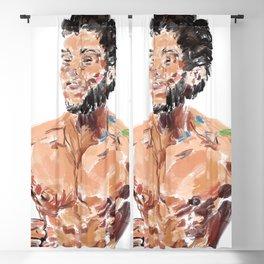 Happy Bearded Guy Blackout Curtain
