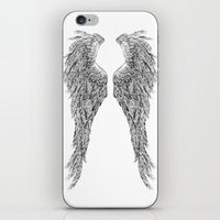 angel wings iPhone & iPod Skins featuring Angel wings by Annie0710