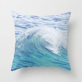 Sea Wave Minimal Poster Throw Pillow