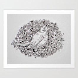 Rococo Nightingale Art Print