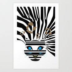 Leopard Zebra crossover Art Print