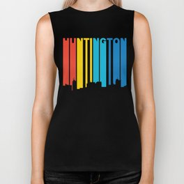 Retro 1970's Style Huntington West Virginia Skyline Biker Tank