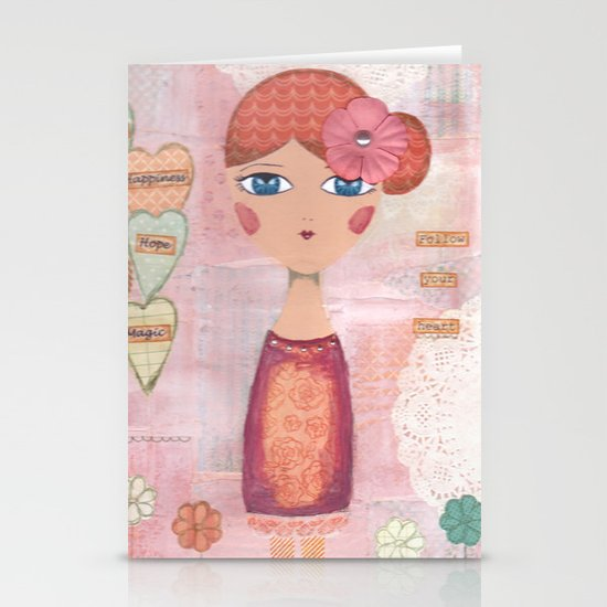 May the Angels show you the way Stationery Cards