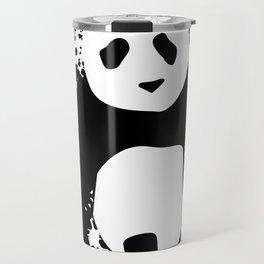 Monochromatic Panda Travel Mug