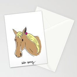 Side Pony Stationery Cards