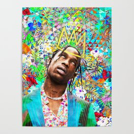 Travis portrait artwork Poster