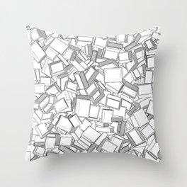 The Book Pile II Throw Pillow