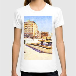 Square with fountain of Aleppo T-shirt