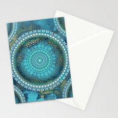 Aqua Cloud Mandala Stationery Cards