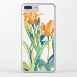 Fresh Spring Tulips Clear iPhone Case