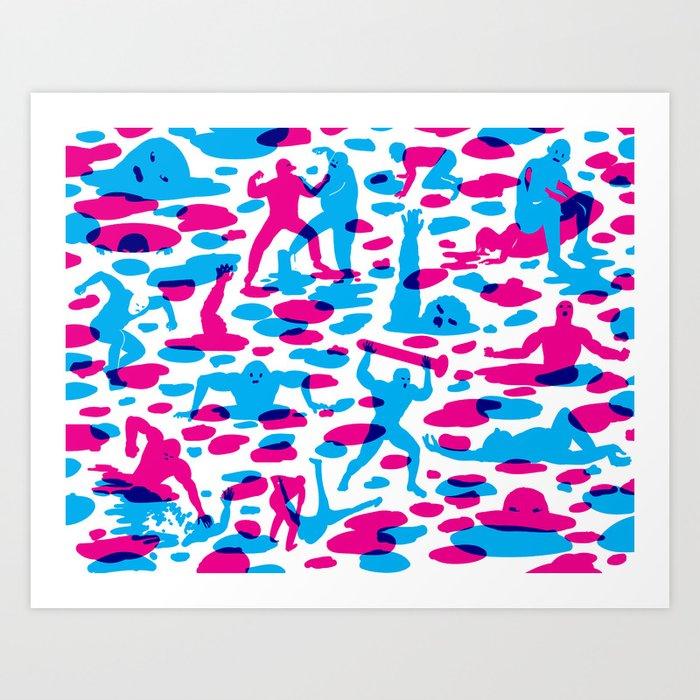 Acids vs. Bases Art Print