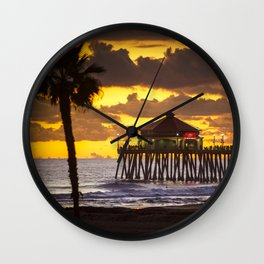 Surf City Sunset / Last Wave Of The Day  12/26/19 Wall Clock