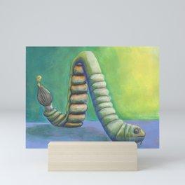 Inching into Creativity Vivid Worm of Creative Juice Mini Art Print