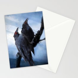 Hugin and Munin the crows Stationery Cards