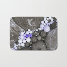 Bubbles-Art - Gray Bath Mat