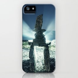 Inukshuk in the Night iPhone Case