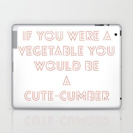 A cute veggie pickup line in Tinder brand red Laptop & iPad Skin