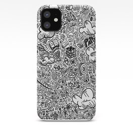 Crazy doodles iPhone Case