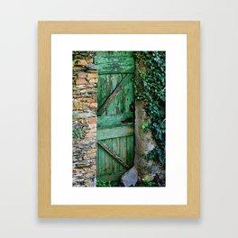Italian Green Door Framed Art Print