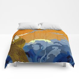 """Wings of Victory"" Art Deco Design Comforters"