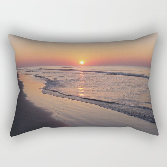 Sunrise Over The Atlantic Ocean Rectangular Pillow