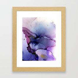 color flow purple blue magenta gold Framed Art Print