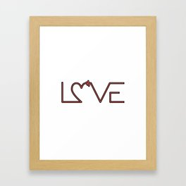 Love is... Framed Art Print