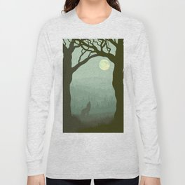 wolf forest Long Sleeve T-shirt
