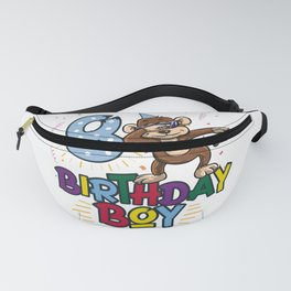 Funny Birthday Gift 8 year old Boy Dabbing Monkey product Fanny Pack