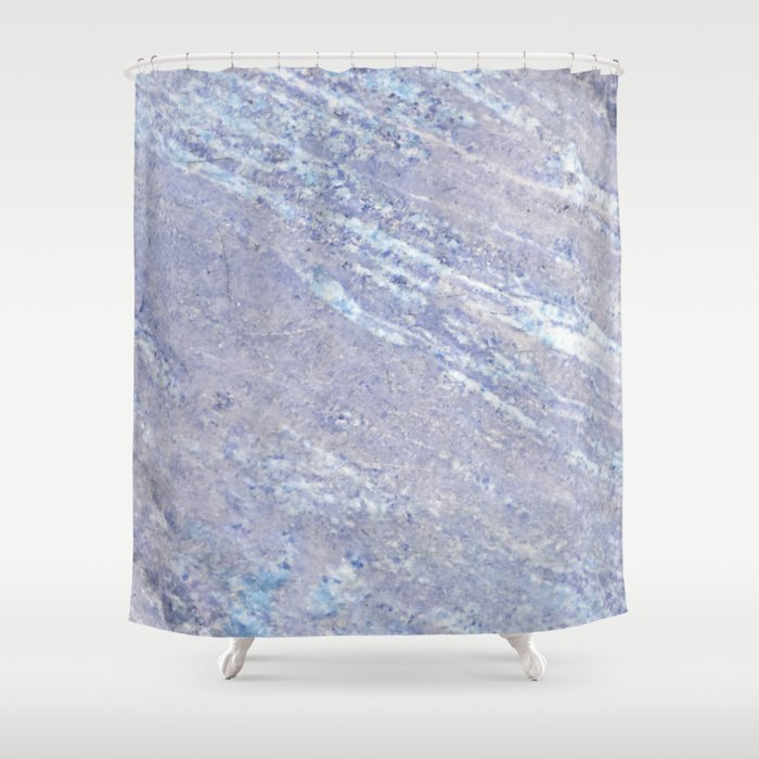 Ocean Blue Marble Shower Curtain