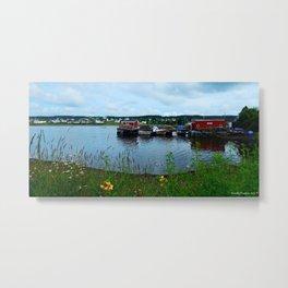 Fisherman's Wharf in Cape Breton Metal Print
