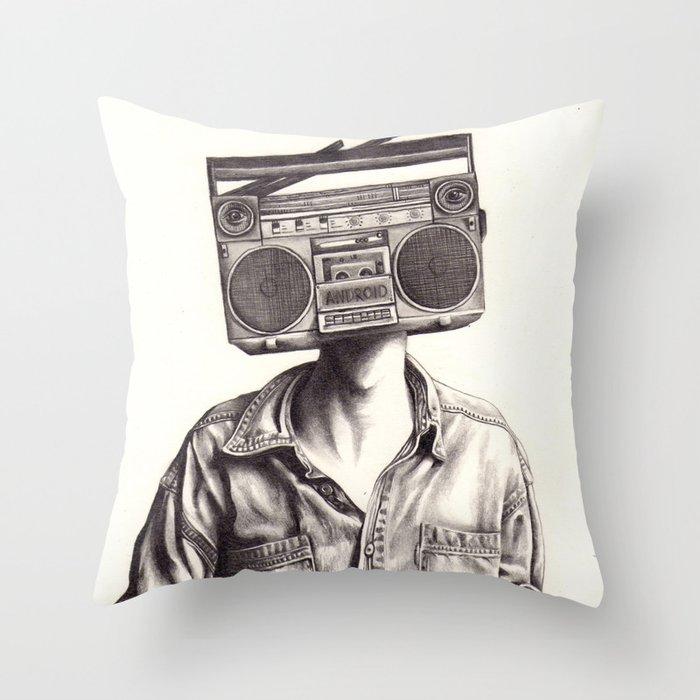 Radio-Head Throw Pillow