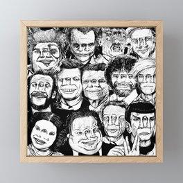 Dead Celebrities Framed Mini Art Print