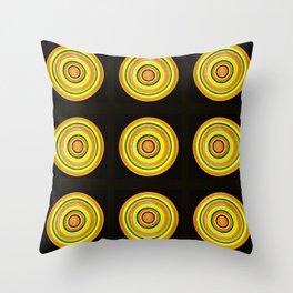 Circle #3  Multiplied Throw Pillow